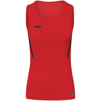 JAKO Tanktop Challenge Dames - Meisjes Rood-Zwart