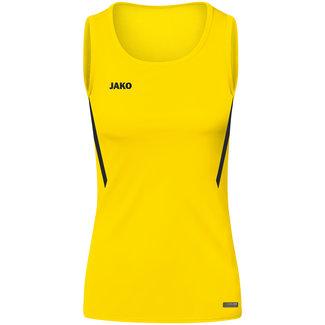 JAKO Tanktop Challenge Dames - Meisjes Citroen-Zwart