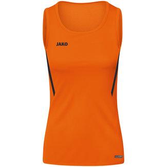JAKO Tanktop Challenge Dames - Meisjes Fluo oranje-Zwart