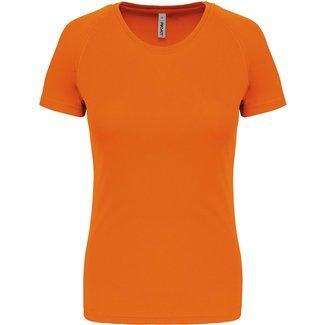 Proact Sportshirt Basic Dames - Fluo oranje