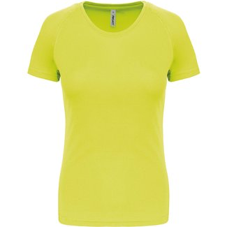Proact Sportshirt Basic Dames - Fluo yellow