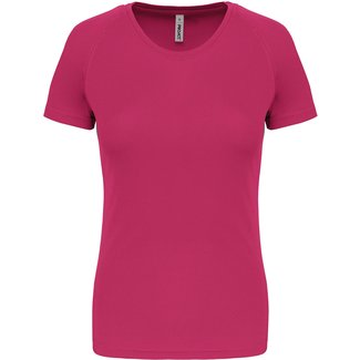 Proact Sportshirt Basic Dames - Fuchsia