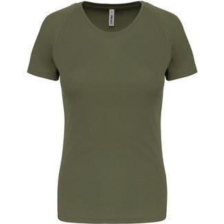 Proact Sportshirt Basic Dames - Lime - Olive