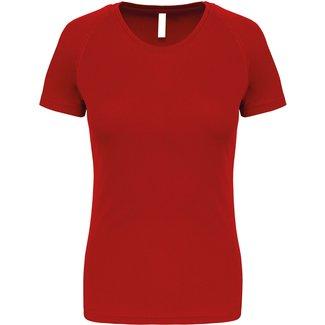 Proact Sportshirt Basic Dames - Red