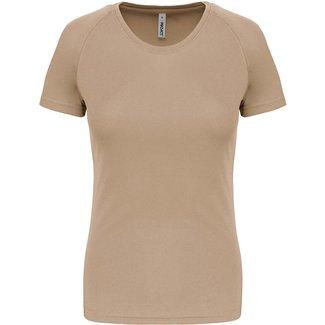 Proact Sportshirt Basic Dames - Sand