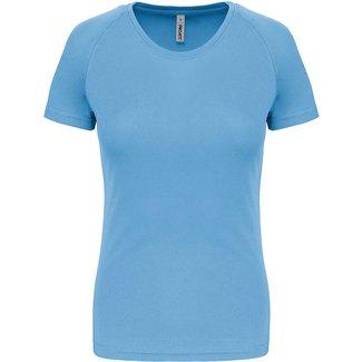 Proact Sportshirt Basic Dames - Skyblue