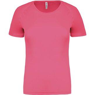 Proact Sportshirt Basic Dames - Fluo pink