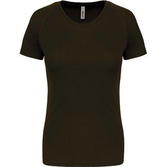 Proact Sportshirt Basic Dames - Dark Khaki