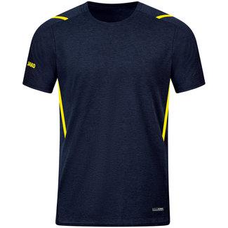 JAKO T-Shirt Challenge Kids-Dames-Heren Marine-Fluogeel