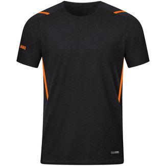 JAKO T-Shirt Challenge Kids-Dames-Heren Zwart-Fluo oranje