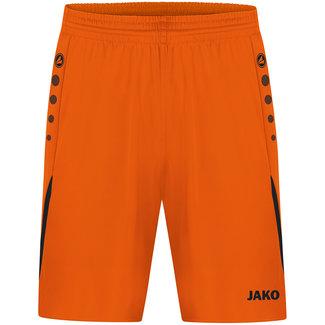 JAKO Short Challenge Kids-Dames-Heren Fluo oranje-Zwart