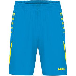 JAKO Short Challenge Kids-Dames-Heren Jakoblauw-Fluogeel