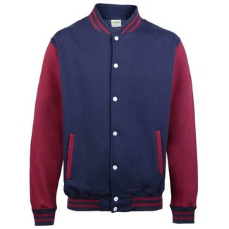 Personal College vest / jacket NAVY-BURGUNDY Adults