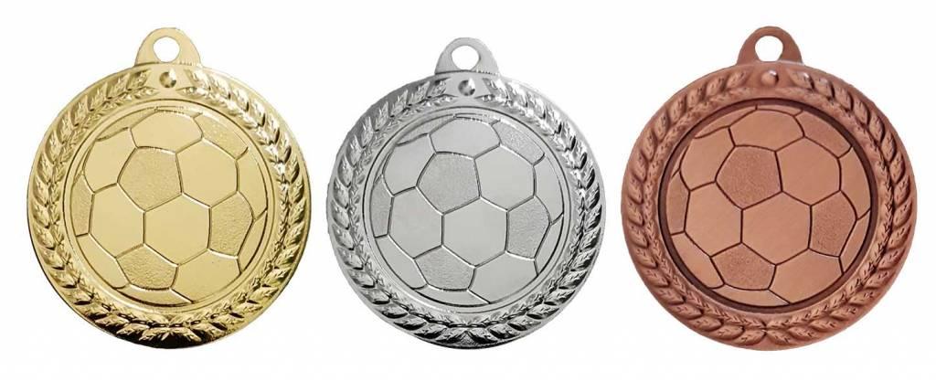 M 68-25 Voetbal medaille incl, lint en graveren