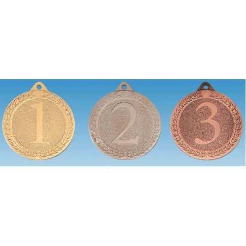 M 66-25 Medaille  met cijfer 1/2/3 incl. lint en graveren
