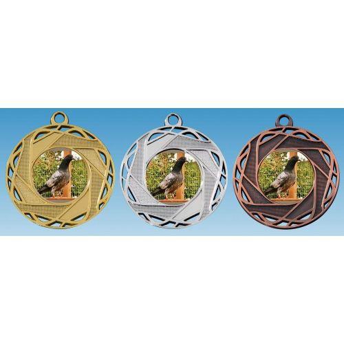 M 71/25 Medaille opengewerkt incl. afbeelding,  lint en graveren