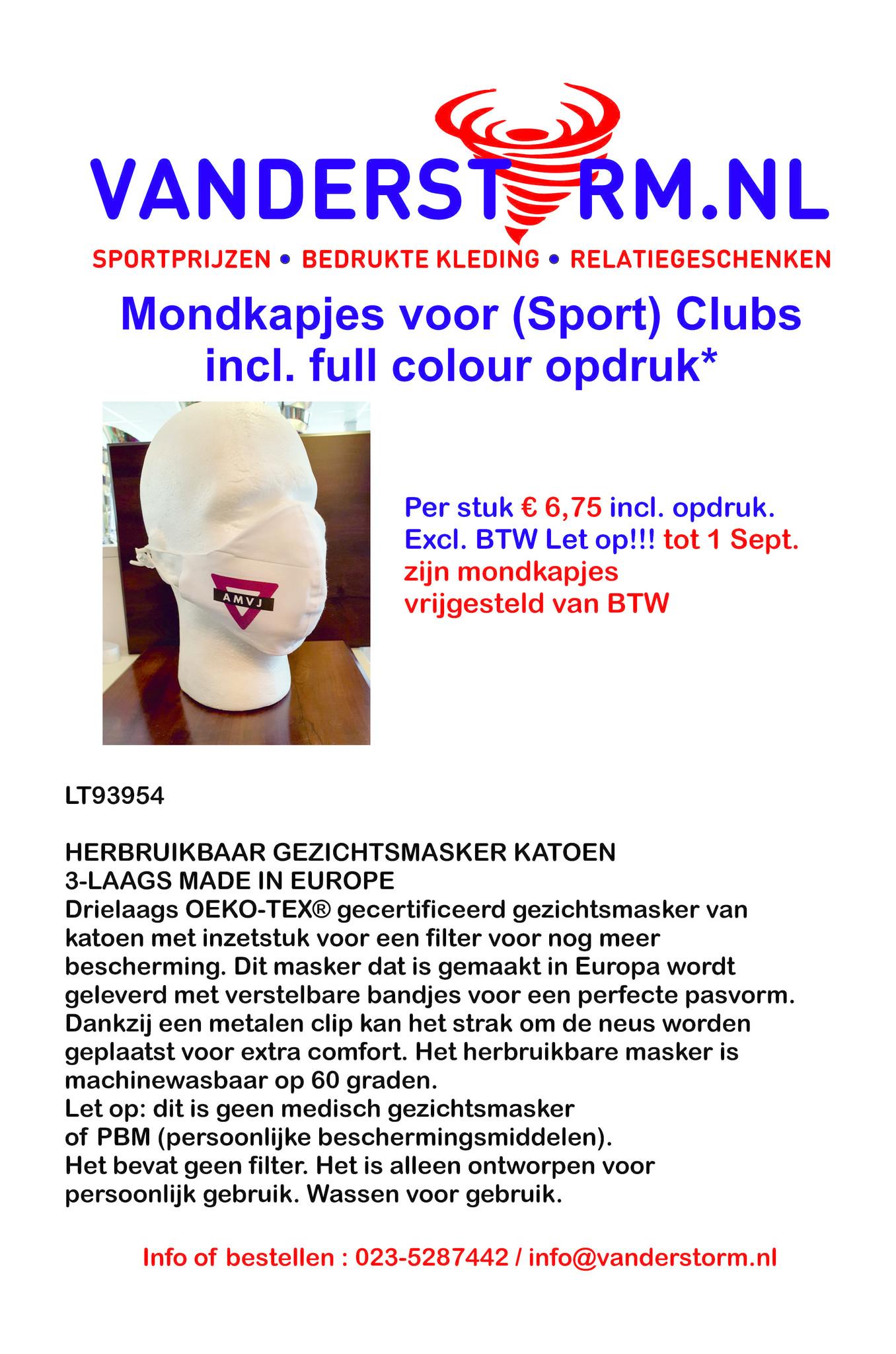 Mondkapje voor clubs