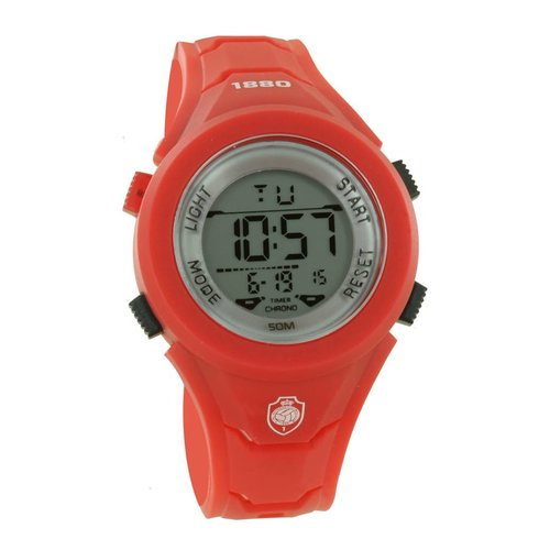 "Official Antwerp Official Horloge ""Digital"" rood"