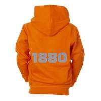 Hoodie 'Team 1880' oranje