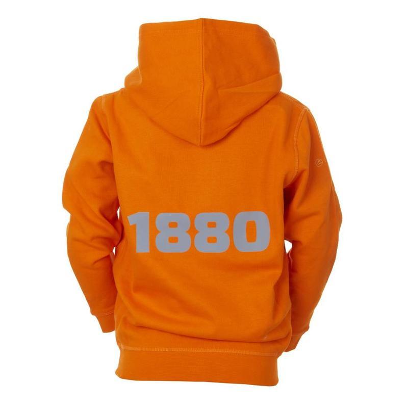 Hoodie 'Team 1880' oranje - kids