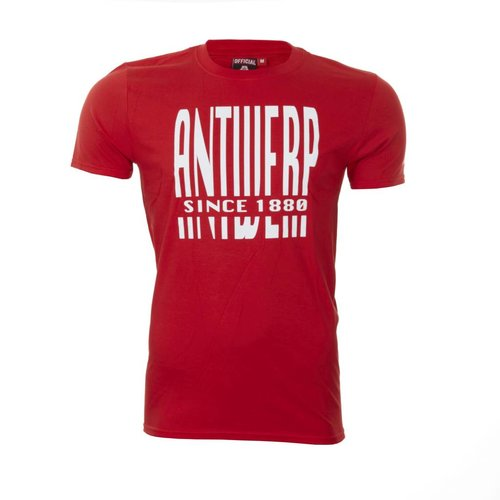 T-shirt 'Antwerp since 1880' rood - volwassenen