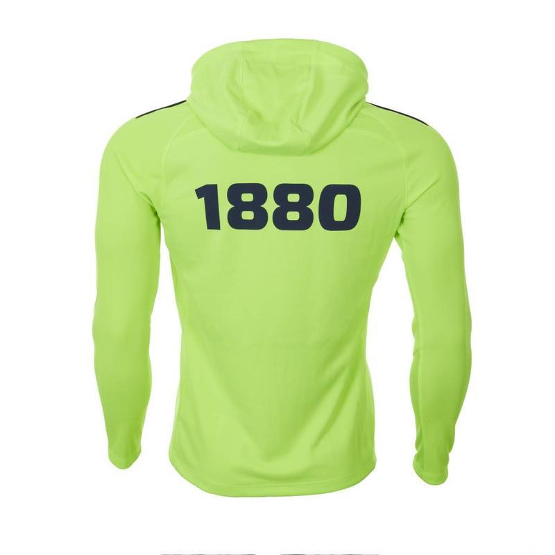Hoodie 'Prestige 1880' lemon/marine