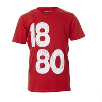 T-shirt '1880 vintage' rood - kids