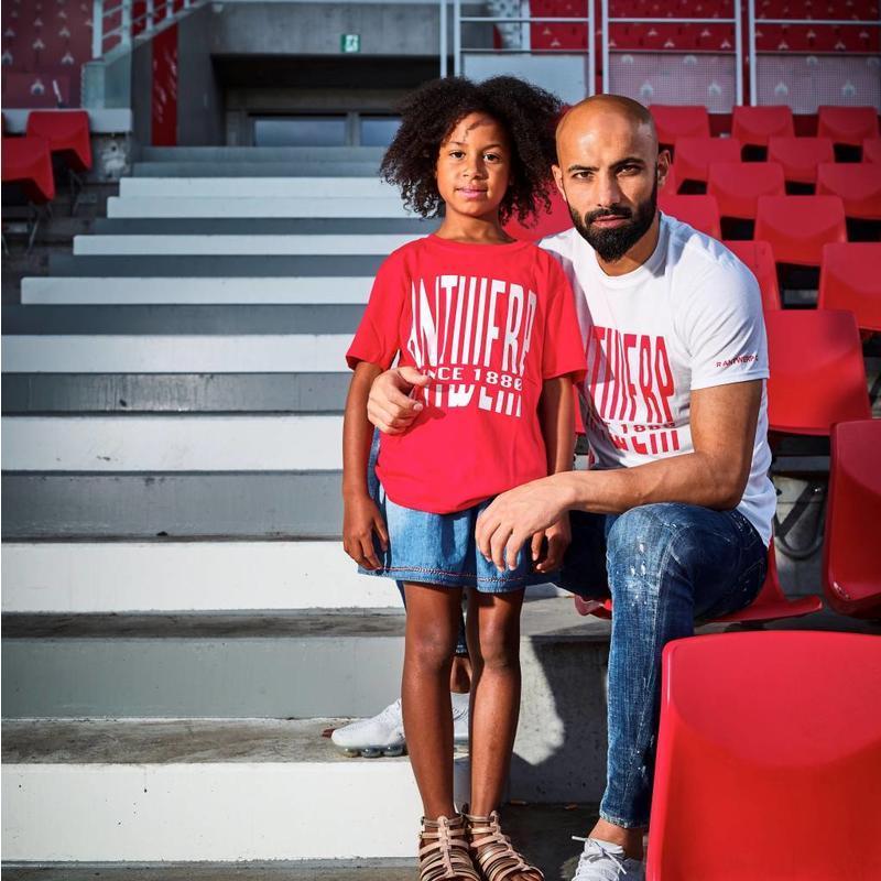 T-shirt 'Antwerp since 1880' rood - kids