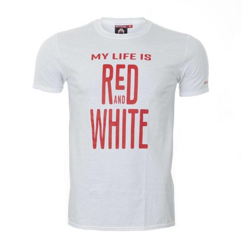 T-shirt 'My Life' wit - volwassenen