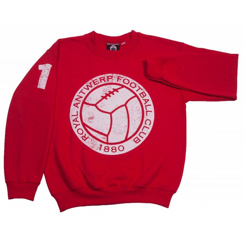 "Antwerp Official Sweater - ""Vintage Ball"" - Rood - Kids"