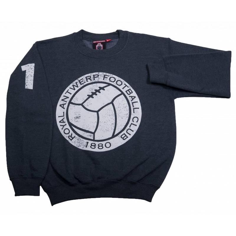 """Antwerp Official Sweater - """"Vintage Ball"""" - Grijs - Kids"""