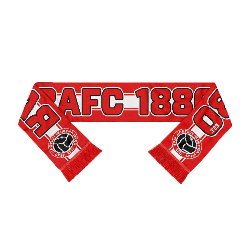 "Antwerp Official Sjaal  - ""RAFC 1880 Vintage Ball"" - Rood/Wit"