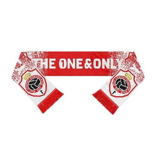 """Official Antwerp Official Sjaal - """"The One & Only Embleem"""" - Rood/Wit"""