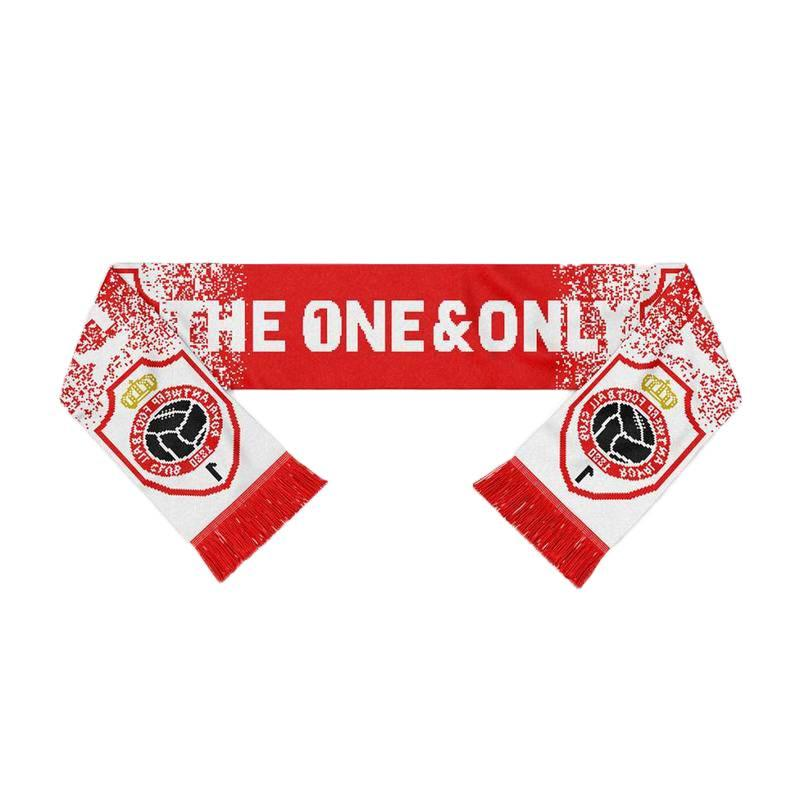 """Antwerp Official Sjaal - """"The One & Only Embleem"""" - Rood/Wit"""
