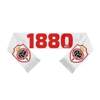 """Antwerp Official Sjaal - """"1880 Embleem"""" - Wit/Rood"""