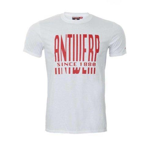 T-shirt 'Antwerp since 1880' wit - volwassenen