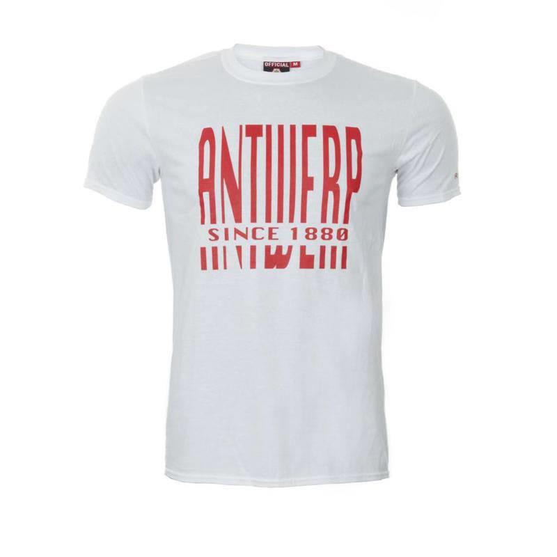 T-shirt 'Antwerp since 1880' wit - volwassenen