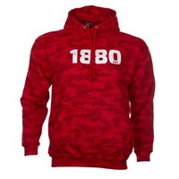 Hoodie '1880' camouflage rood