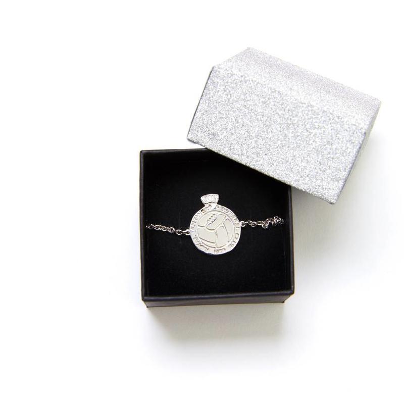 Armband 'Logo' zilver