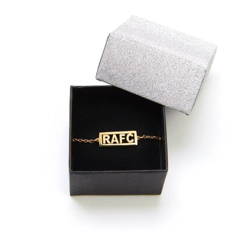 Armband 'RAFC' verguld