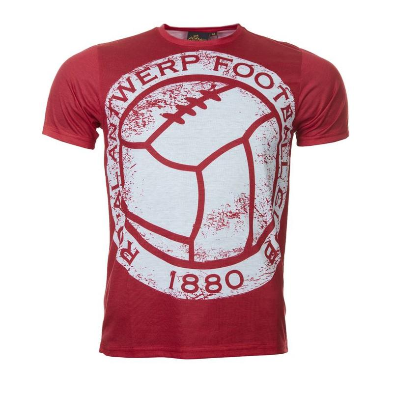T-shirt 'The great old vintage bal' rood