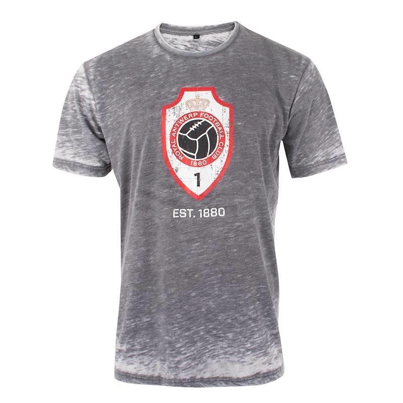 T-shirt 'Vintage logo' - grijs