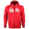 Hoodie met rits 'RAFC 1880' rood
