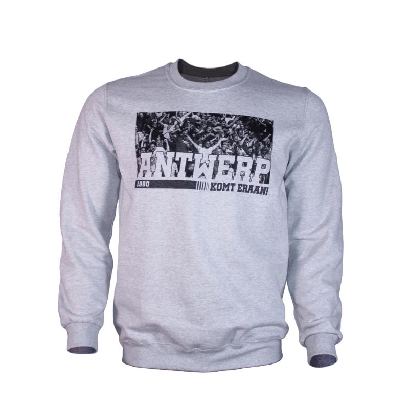 Sweater 'Antwerp Komt Eraan' grijs