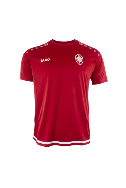 RAFC T-shirt Striker 2.0 - Chilirood/Wit