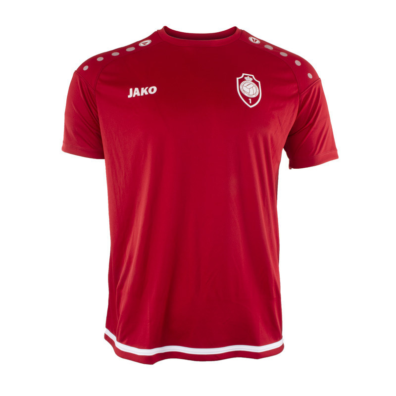 RAFC T-shirt Striker 2.0 - Chilirood/Wit-1