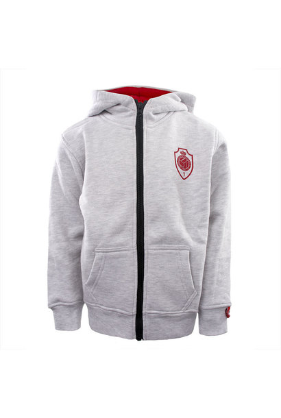 RAFC Hooded Sweater Shield Kids - Grijs