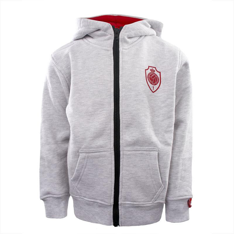 RAFC Hooded Sweater Shield Kids - Grijs-1