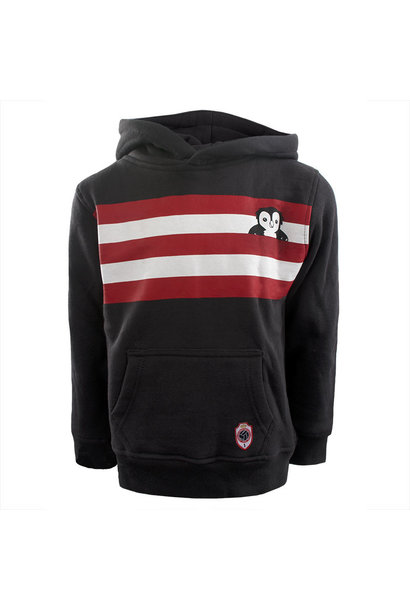 RAFC Hooded Sweater Stripes Owl Kids - Charcoal