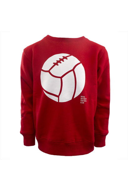 RAFC Sweater Retro Ball Kids - Rood